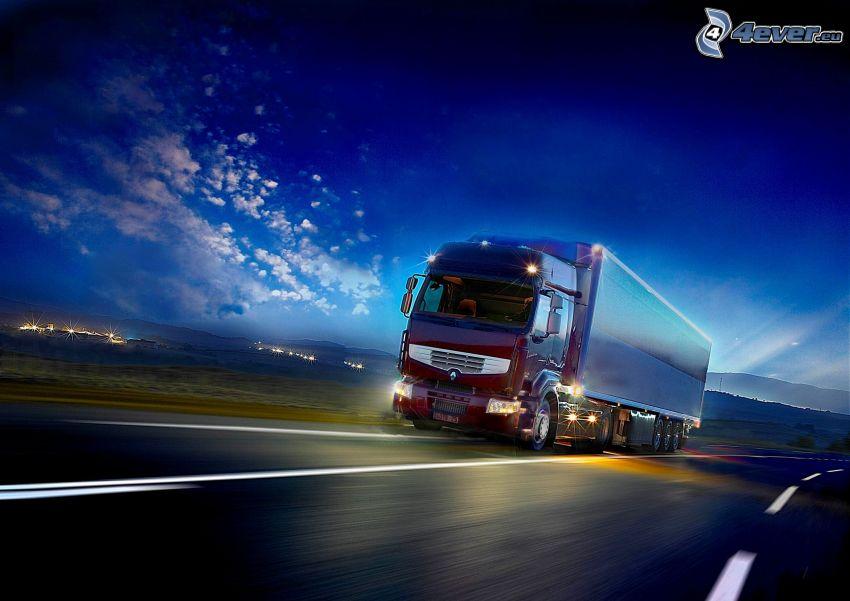 Renault Premium Route 440DXi, camión, camino