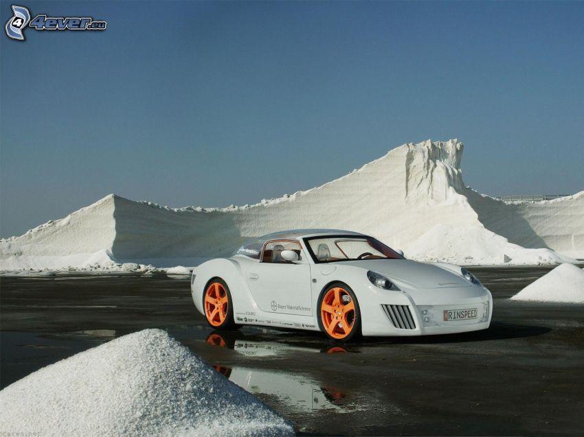 Rinspeed zaZen, Porsche, coche supersport, nieve