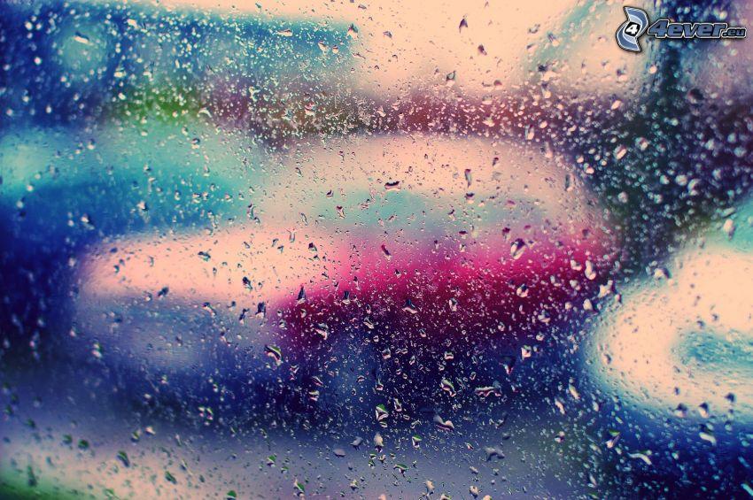 rocío en vidrio, coches