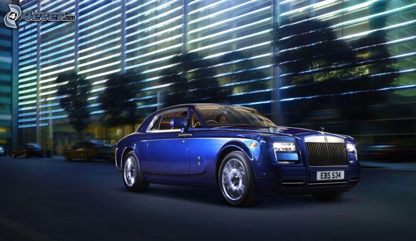 Rolls Royce, edificio, acelerar
