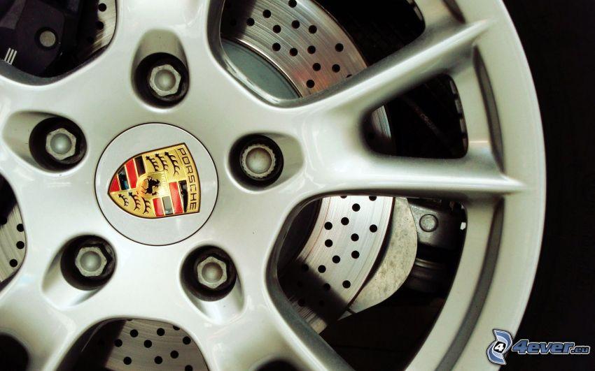 rueda, Porsche, disco, freno