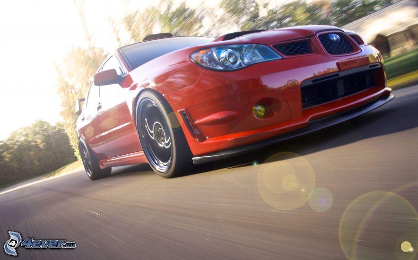Subaru Impreza WRX, acelerar