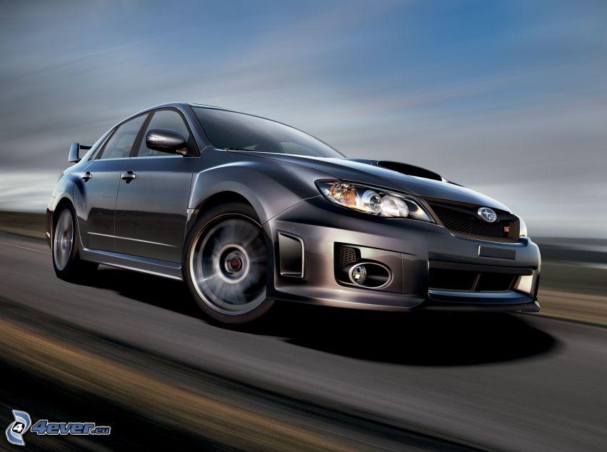 Subaru Impreza WRX STi, acelerar