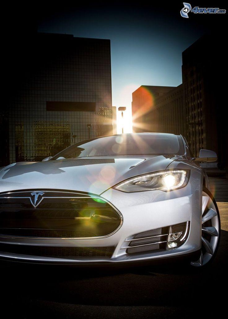 Tesla Model S, ciudad, delantera de coche
