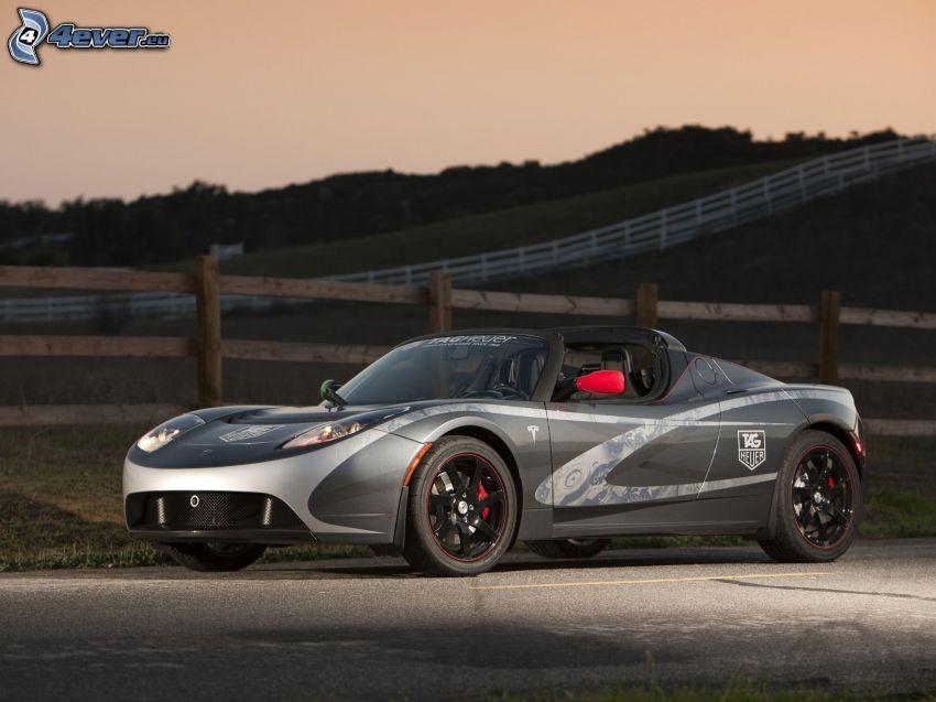 Tesla Roadster, Tag Heuer, coche eléctrico