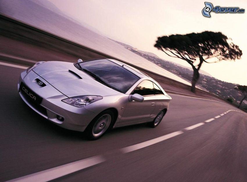 Toyota Celica, acelerar, camino