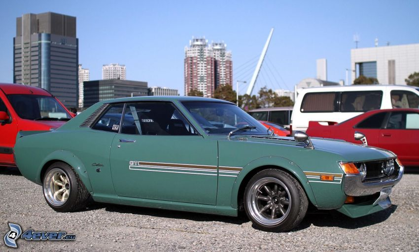 Toyota Celica, veterano, parking