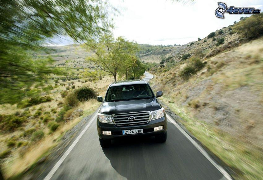 Toyota Land Cruiser, SUV, acelerar, camino