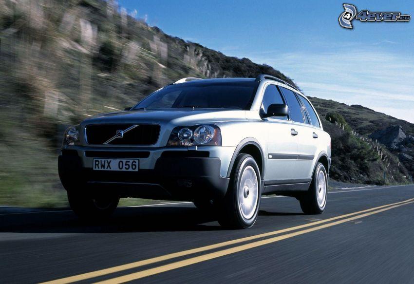 Volvo, acelerar, camino