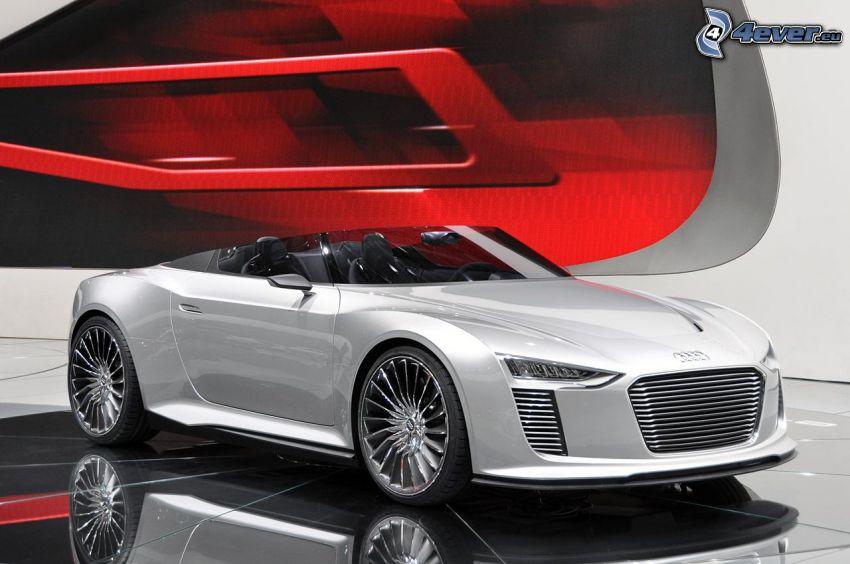 Audi, descapotable, concepto, exposición