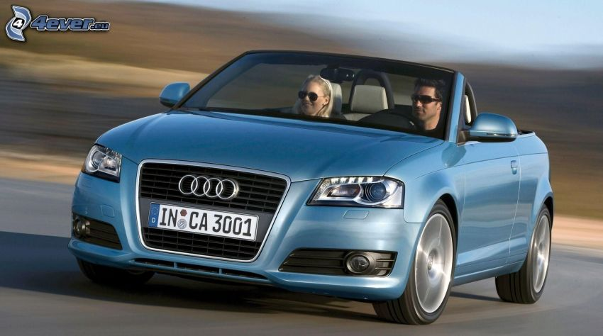 Audi A3, descapotable, acelerar