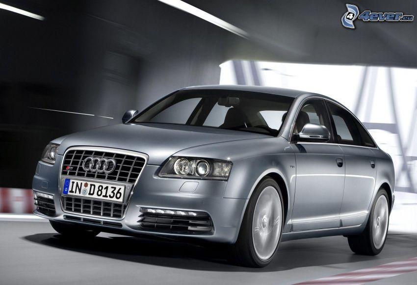 Audi A6, acelerar, túnel