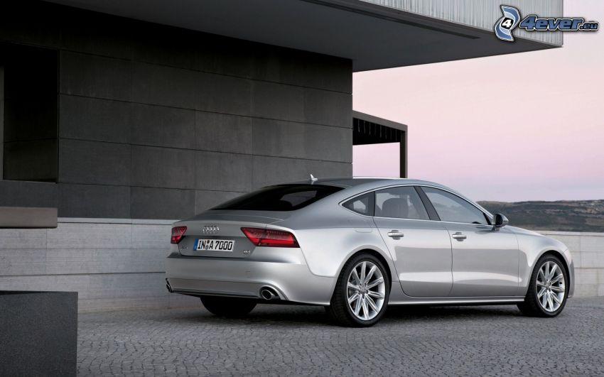 Audi A7, edificio, pavimento