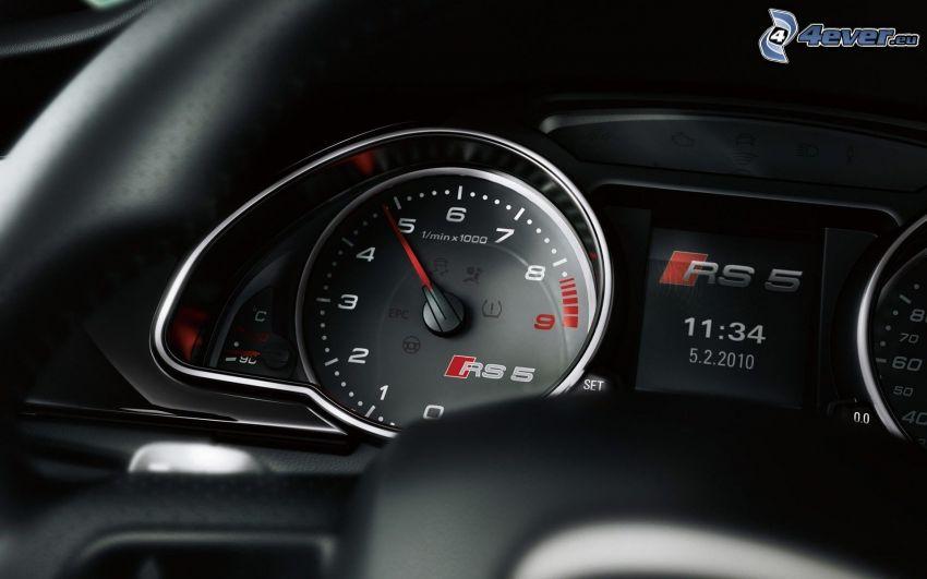 Audi RS5, velocímetro