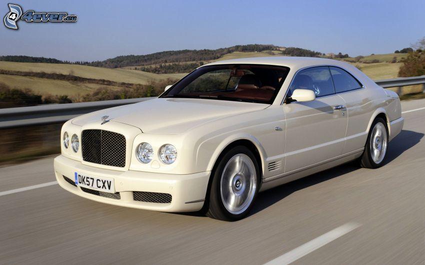 Bentley, acelerar, camino