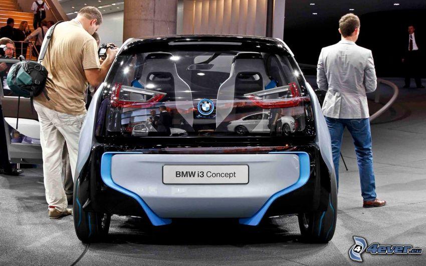 BMW i3 Concept, exposición, personas