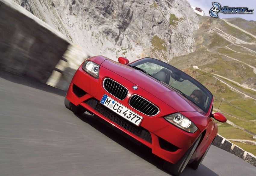BMW Z4, descapotable, acelerar