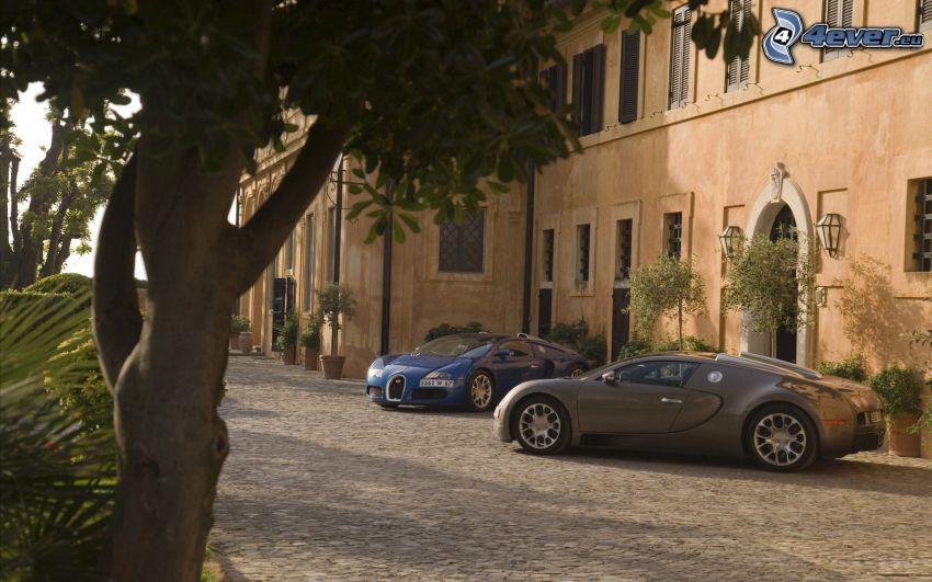Bugatti Veyron, calle, casa