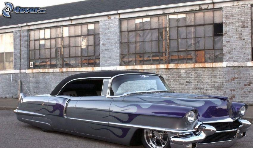 Cadillac, lowrider, descapotable, veterano, edificio
