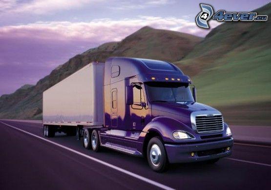 camión, camino