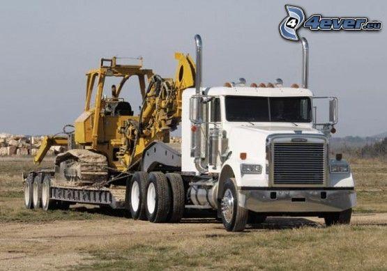 camión, excavadora