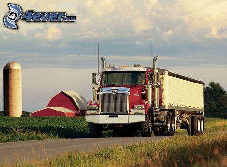 camión, granja