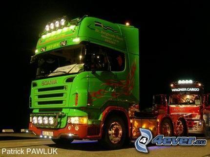 camión, remolque, tuning