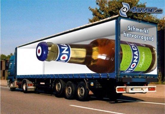 cerveza, camión
