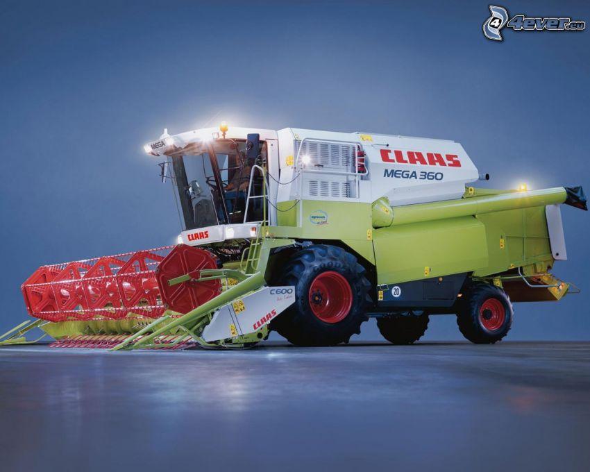 Claas Mega 360, cosechador