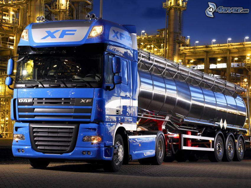 DAF XF 105, camión, tanque, fábrica