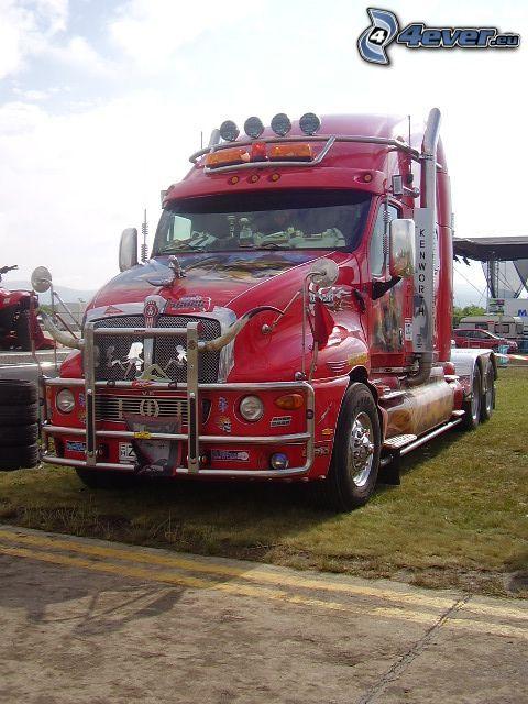 Kenworth T2000, tuning, camión, remolque