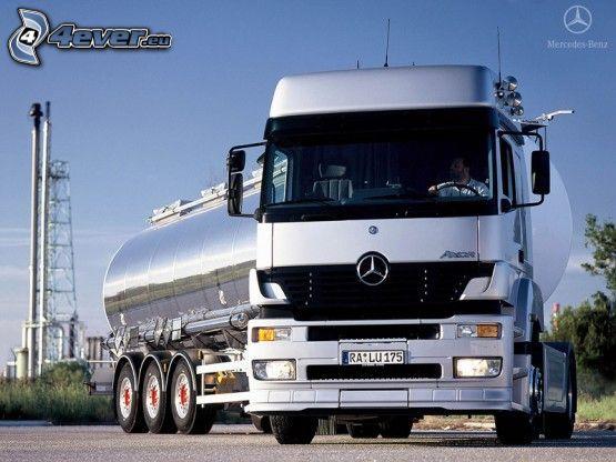 Mercedes, tanque, camión