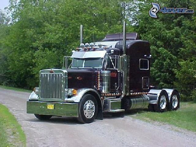 Peterbilt 379, camión, remolque