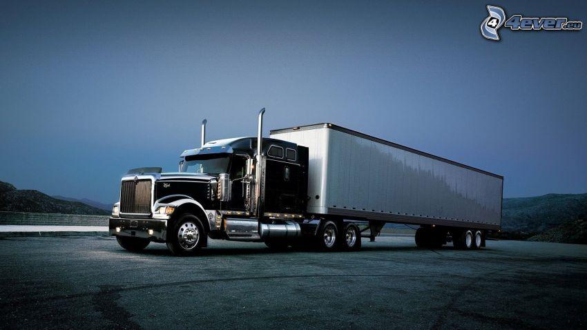 remolque americano, camión
