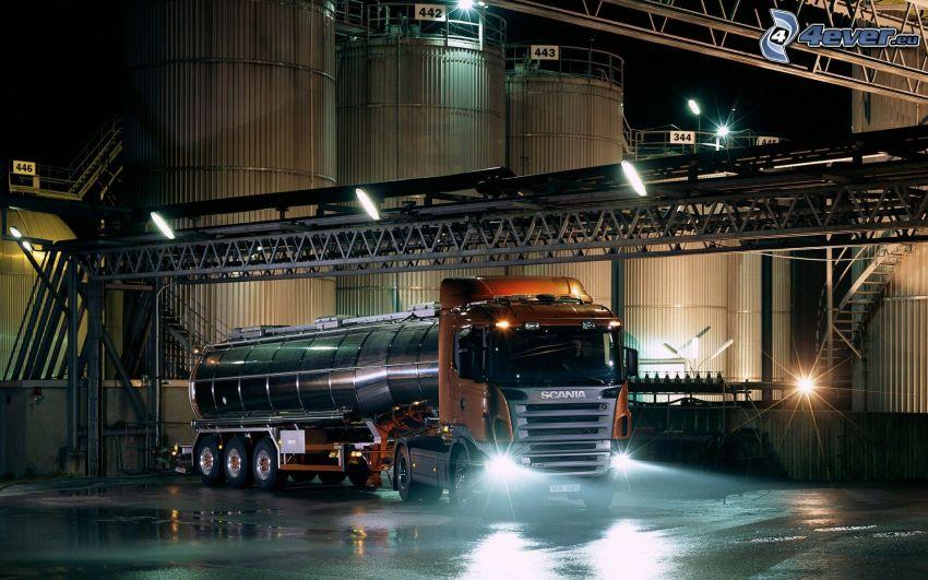 Scania, camión, tanque