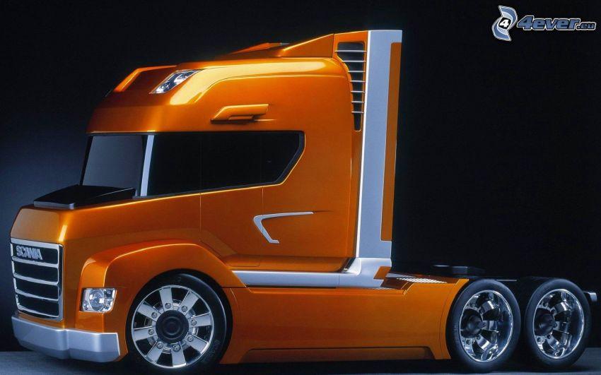 Scania, remolque, concepto