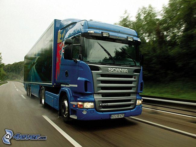 Scania R470, camión, carretera