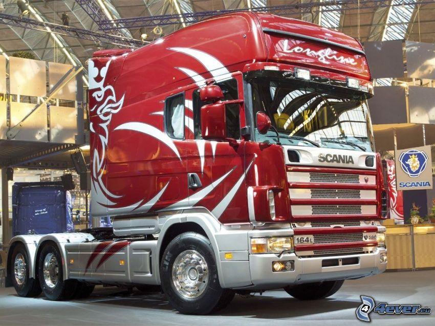 Scania R580, camión, exposición
