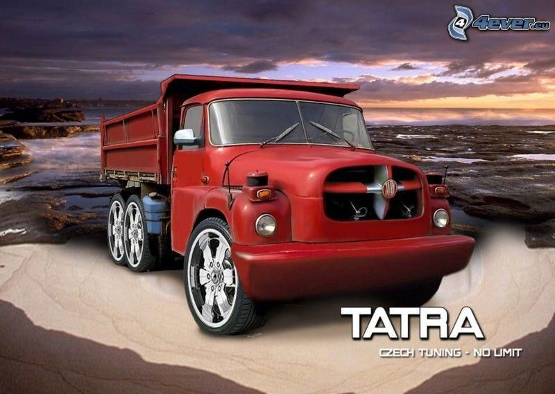 Tatra, virtual tuning, mar, cielo de la tarde