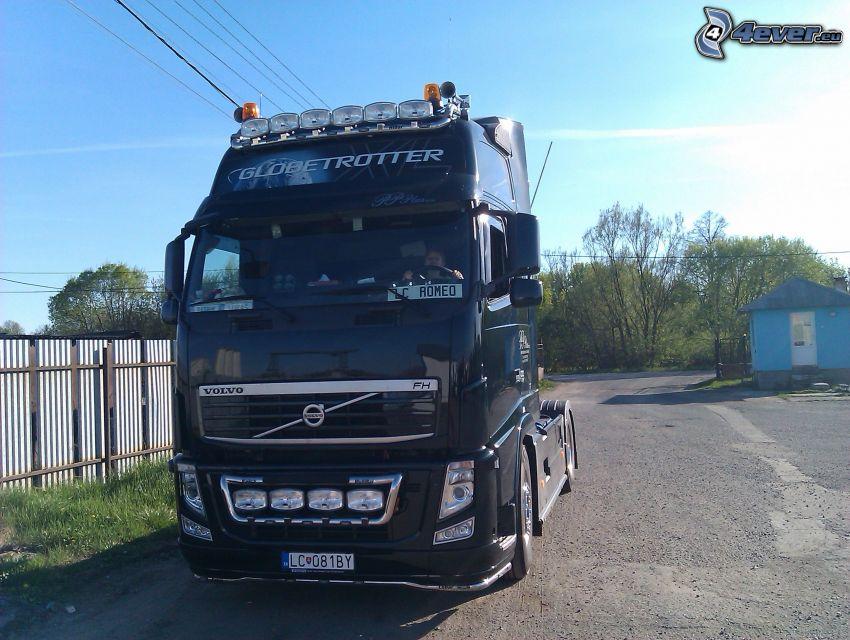 Volvo 500, Globetrotter, camión, remolque