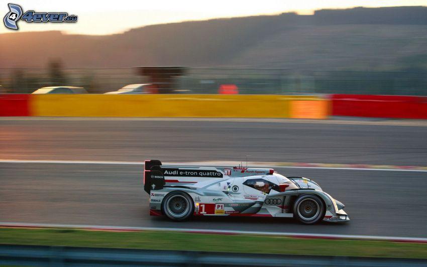 Audi, coche de carreras, acelerar, carreras en circuito