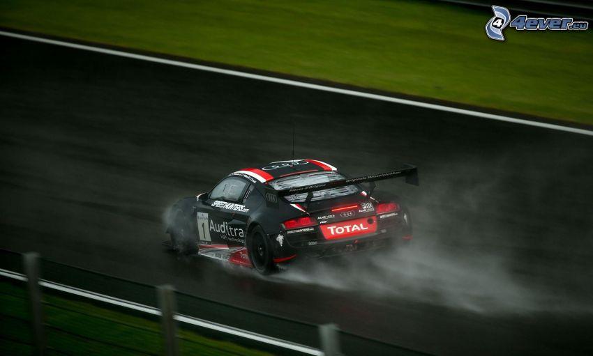 Audi R8, coche de carreras, acelerar