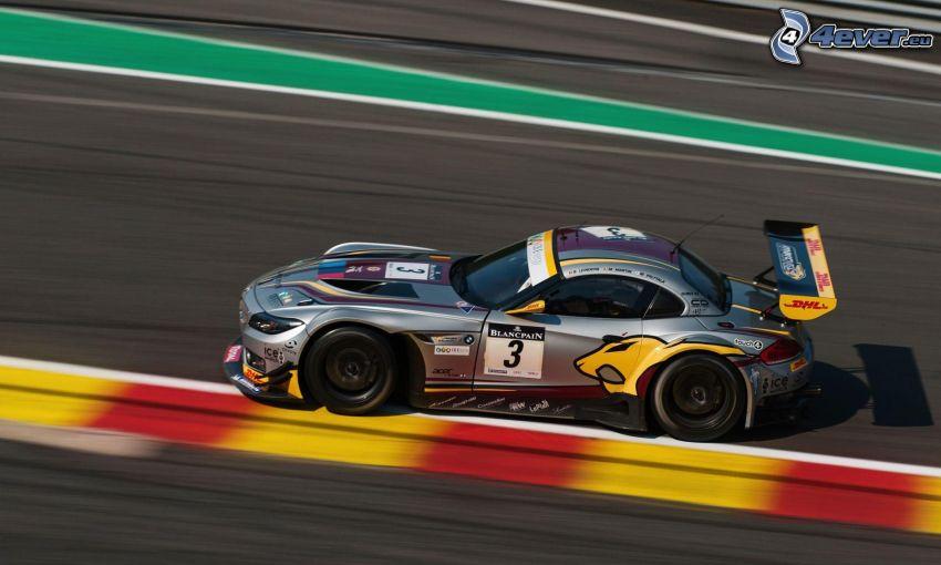 BMW, coche de carreras, acelerar, carreras en circuito