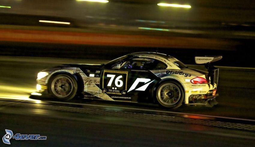 BMW, coche de carreras, acelerar