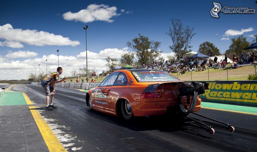 BMW, coche de carreras, carreras en circuito
