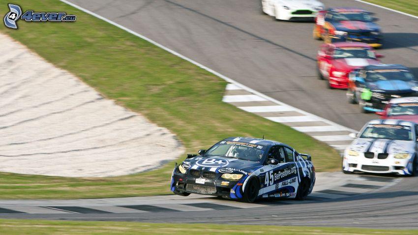 carreras, BMW, coche de carreras, carreras en circuito, acelerar