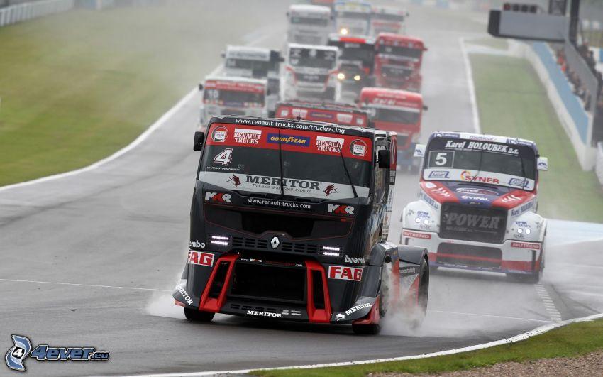 carreras, camiones