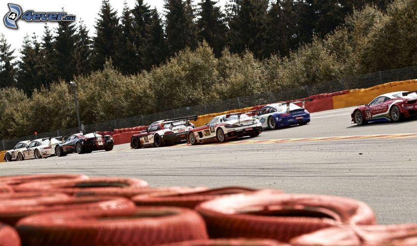 carreras, carreras en circuito, coche de carreras