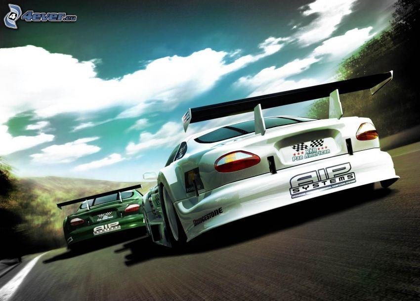 carreras, coche de carreras, acelerar
