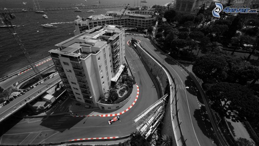 carreras, fórmula, vista, Mónaco